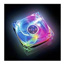 Cooler Fan Akasa Crystal C/ 4 Led´s - Colorido 8x8 Cm