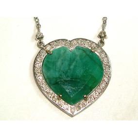 Pocao2005- Colar De Ouro 18k750 Diamantes E Esmeralda C106
