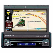Dvd Player Retrátil 7c/ Gps H-buster Hbd 9750/ Usb E Ent Aux