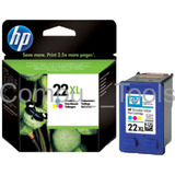 Cartucho Tinta Hp 22xl C9352cl Tri-color 22xl 11ml Caja N/v