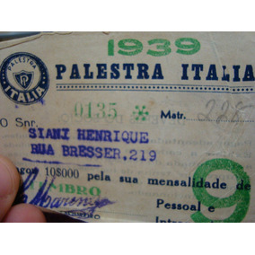 Palestra Itália Palmeiras Raridade Histórica !!!!!!!