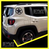 Calco Jeep Renegade Estrella Oscar Mike Calcomania Ploteoya