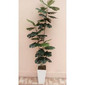 Planta Arvore Costela De Adão Artificial Verde Sem Vaso