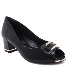 Sapato Peep Toe Comfortflex Fivela (nota Fiscal) | Zariff