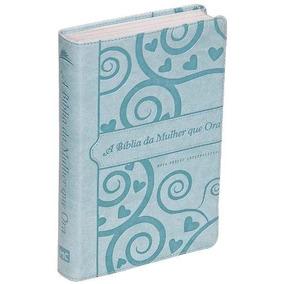 Bíblia Da Mulher Que Ora - Azul Claro Frete Grátis