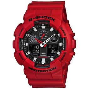 Relogio Casio G-shock Ga-100b-4a Vermelho Nacional E Nfe