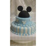 Tortas Decoradas Mickey X 3 Kg Con Adorno De Orejas