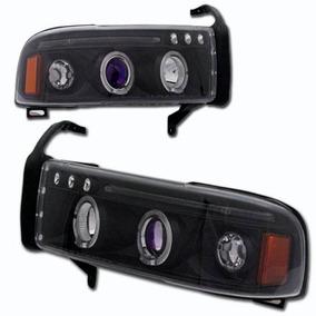 Farol Projector C/ Angel Eyes Dodge Ram 1993 / 2002