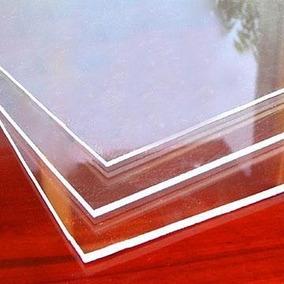 Chapa Placa Acrilico Cristal Transparente 50x50cm 4mm