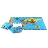 Mapa Mundi Gigante Grande Tapete Homeplay Em Eva