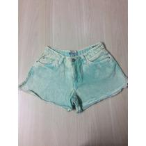Shorts Jeans Feminino Tingido Marca Questão De Estilo Tam 36