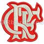 Trj045 Flamengo Escudo Símbolo Tag Patch Bordado 8,5x8,1 Cm