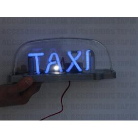 Copete De Taxi Con Luz Neon En Color Azul Con Iman
