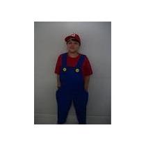 Fantasia Super Mario Ou Luigi Infantil E Adulto Ou Sobmedida