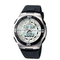 Relógio Masculino Anadigi Casio Aq-164w-7avd - Preto/branco