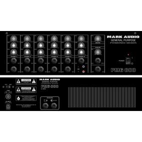 Cabeçote Multiuso Mesa Som Amplificada Pm6-800 6 Canais 200w