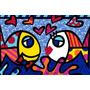 Tecido Romero Britto 70x 100 (modelo 22) 35,00