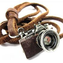 Colar Couro Legitimo Camera Fotografica Fotografo Fotografia