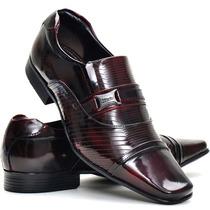 Sapato Social Couro Envernizado Masculino Stilo Italiano