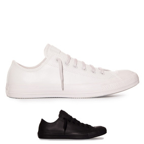 Tenis All Star Converse Ct As Monochrome Leather Ox Promocao