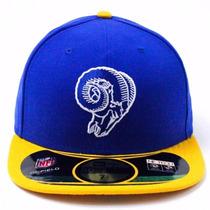 Boné New Era St Louis Rams Nfl Fechado De Aba Reta Top
