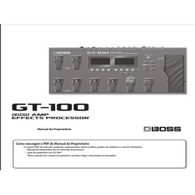 Manual Boss Gt-100 Gt-10 Gt-10b Gt-8 Gt-6 Gt-6b