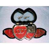 Caixa De Música E Porta Jóias De Coração Importado 2 Gavetas