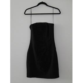 Vestido H&m Negro Talla 6 Strapless Bordado En Remate!!!