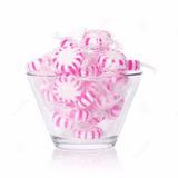 Balas Rosa E Branco P/ Decoração De Mesas Guloseimas 1 Kg