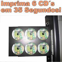 Kit Bandeja 6 Cd Dvd Hp 8600 Impressora Adaptação C/ Suporte