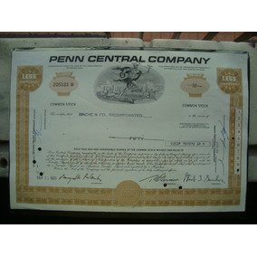 Apolice - Penn Central Company - Ano 1970
