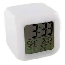 Relogio Digital C/data, Termômetro, Despertador, Muda De Cor