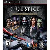 Injustice Gods Among Ultimate 100% Português Mídiafísica Ps3