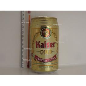 Lata (vazia) Ccerveja Kaiser Gold