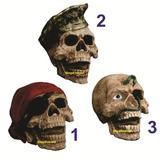 Crânio Em Resina - Pirata, Soldado, Caveira, Halloween.