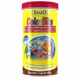Ração Tetra Color Bits 300gr - Comida Para Peixes Tropicais