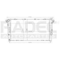 Radiador Dodge Ram 2000-2001 L6 5.9 Lts Diesel Estandar