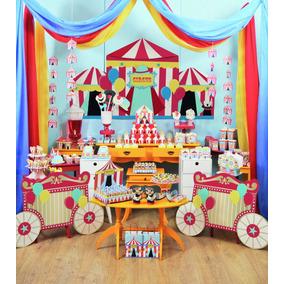 Kit Decoração Festa Circus Até 24 Convidados - 270 Itens