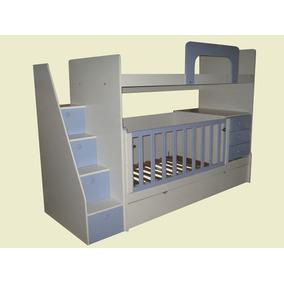 Dormitorio Niño Con Cuna Mas Escalera Cajonera