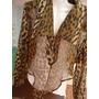 Camisa Leopardo Animal Print Con Transparencias Talle S