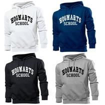 Blusa Moletom Hogwarts School Harry Potter Canguru Com Capuz