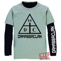 Kit Combo Camiseta E Moletom Damassaclan Costa Gold