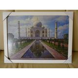 Quadro Quebra-cabeça Taj Mahal Moldura-vidro + Frete Grátis