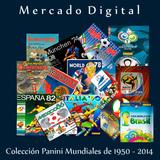 Colección Pdf Albumes Panini Mundial De 1950 A 2014 Regalos