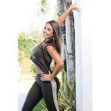 Calça Legging Fusô Suplex Malha Fitness Academia Clarabella
