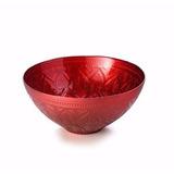 Fruteira Centro De Mesa Vidro 30cm Tunisi Vermelha Lyor 5011