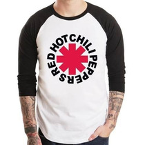 Camiseta Red Hot Chili Peppers Raglan 3/4