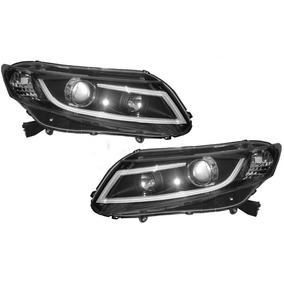 Farol New Civic 2012 A 2015 Black Led - O Par