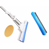 Rodo Mágico 38 Cm Refil Extra +esponja Limpa Vidros Vassoura