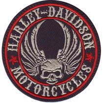 Harley Davidson Calavera Bikes Choper Motos Parches Bordados